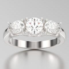 Trend Alert: Three Stone Engagement Rings