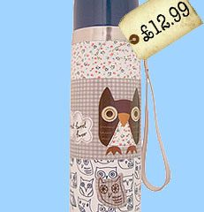 Spotted! Retro Flask – with Owls!